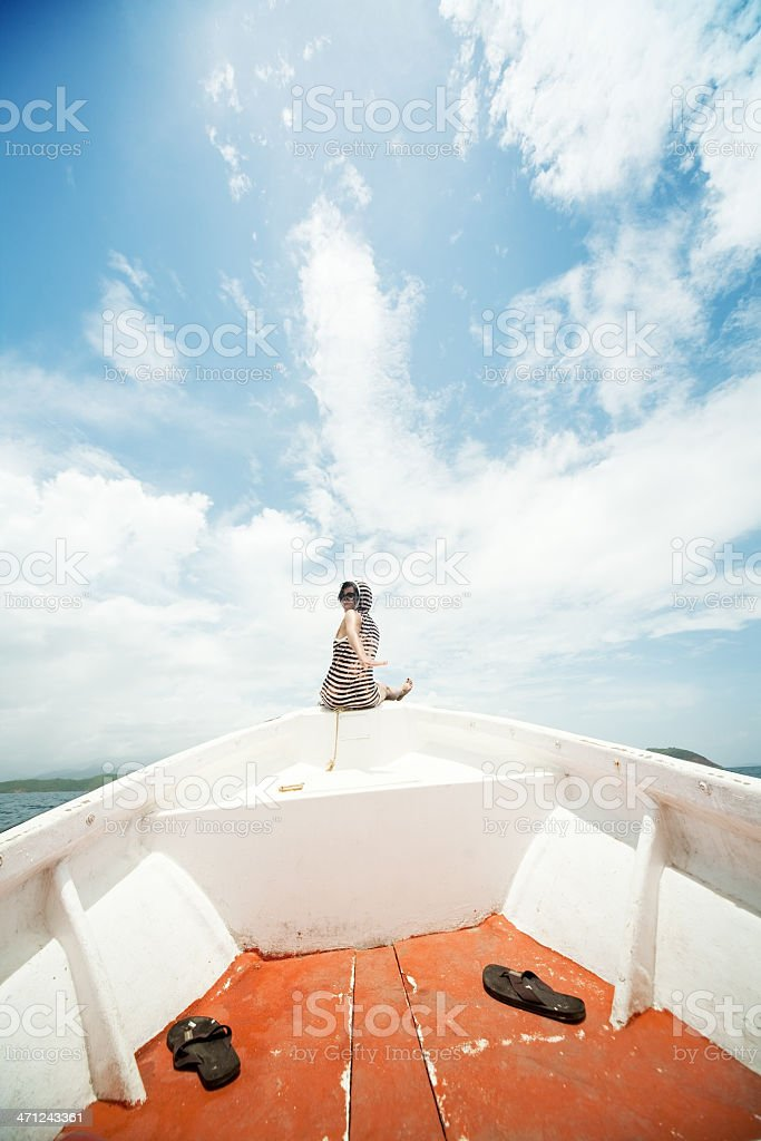 Let's sailing royalty-free stock photo
