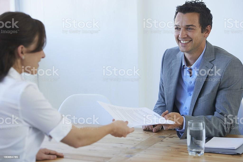 Let's see that resume... stock photo