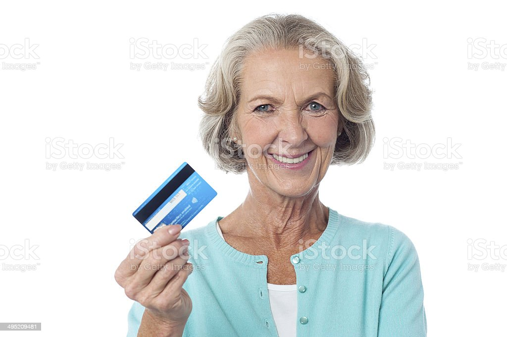 Let's shop with my credit card. - Royalty-free ATM Stock Photo