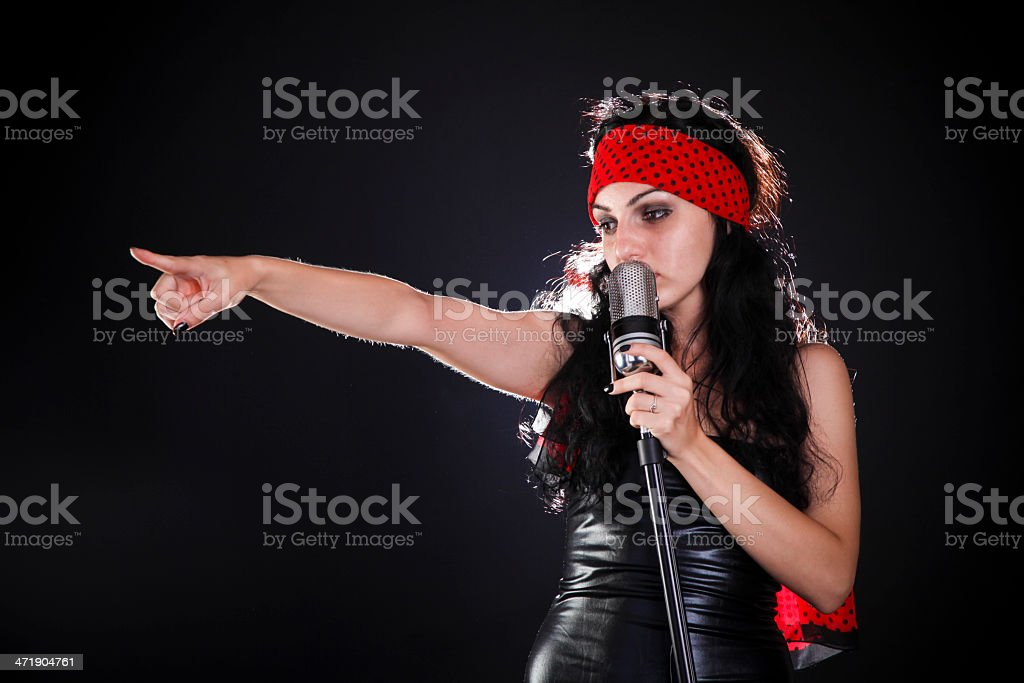 Let's sing! stock photo