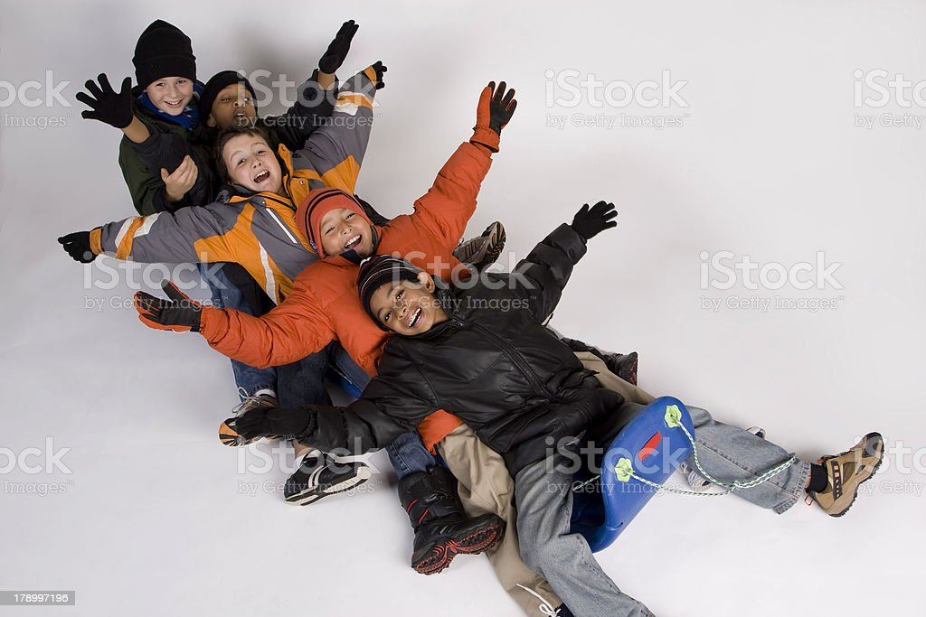 Let's Sled stock photo