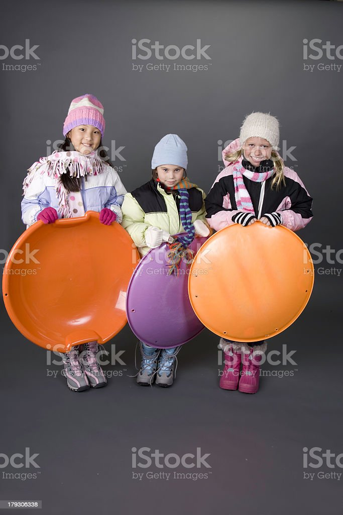 Let's Sled royalty-free stock photo