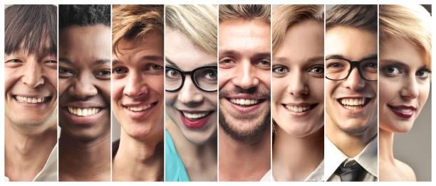 Let's smile stock photo