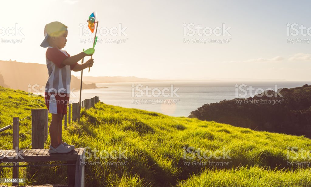 Lets spin pinwheel on top. stock photo