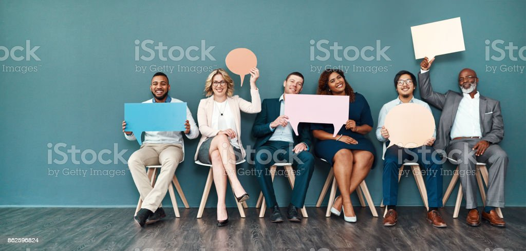Let's start a conversation stock photo