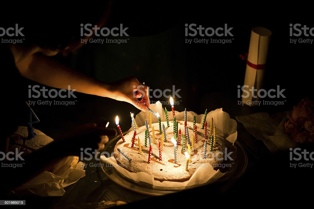 Let's start party - Royalty-free Cake Stock Photo