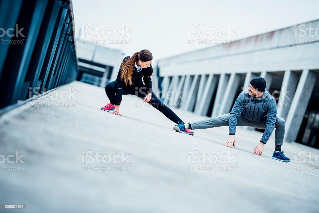 Let's stretch a bit stock photo