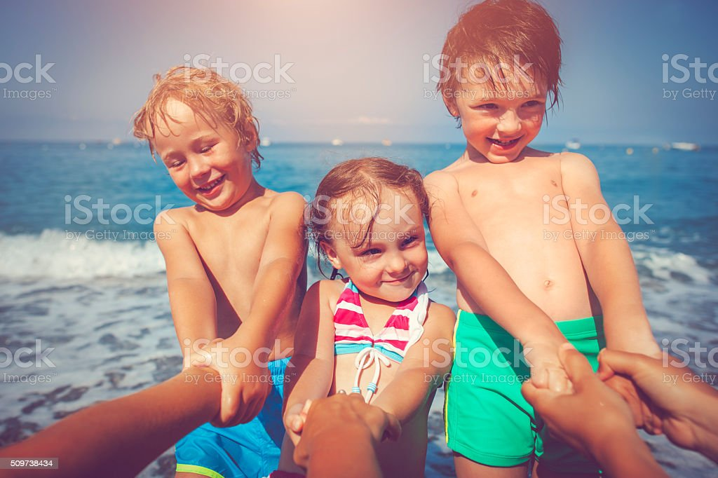 Let's swim! stock photo