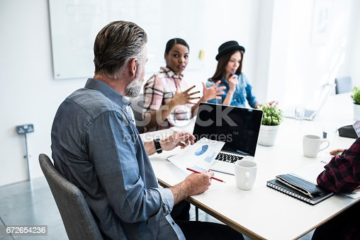 istock Let's take a lot at the graphs and numbers 672654236