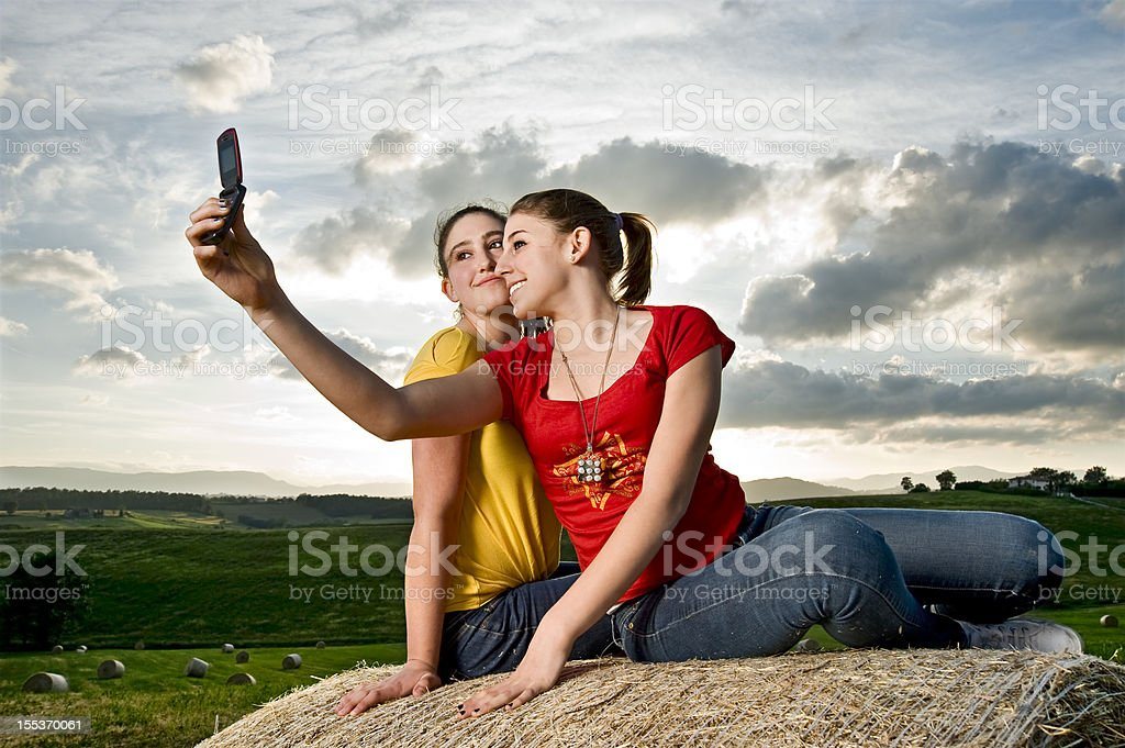Let's Take A Picture!Color Image royalty-free stock photo