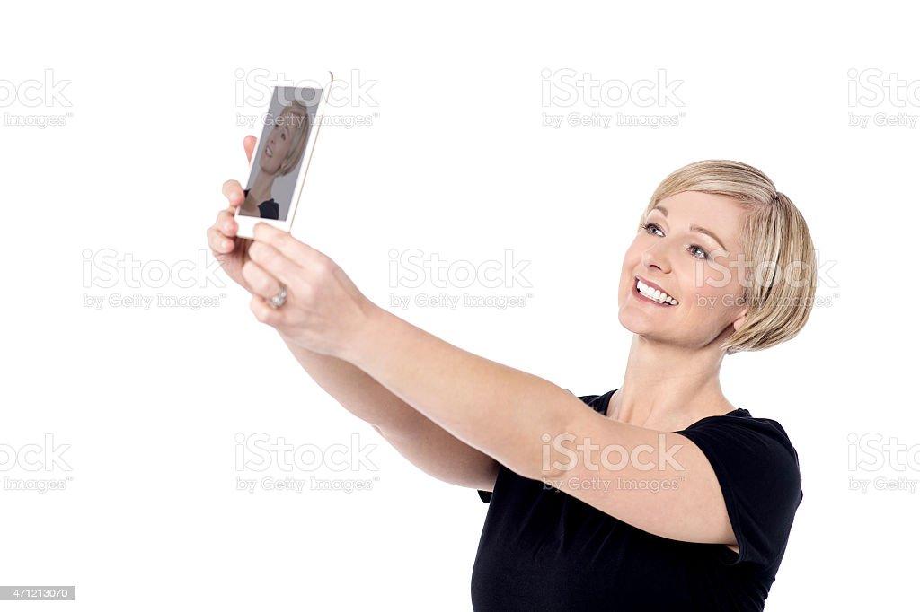 Let's take a selfie ! stock photo