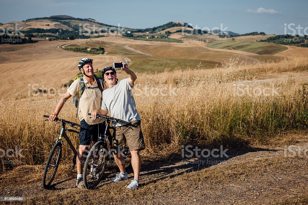 Lets take a selfie! stock photo