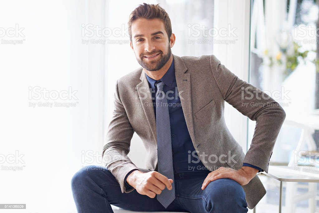 Let's talk business stock photo