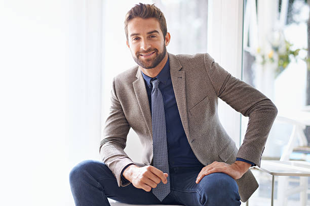 let's talk business - handsome people stock photos and pictures