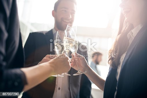 istock Let's toast to our success 657007290