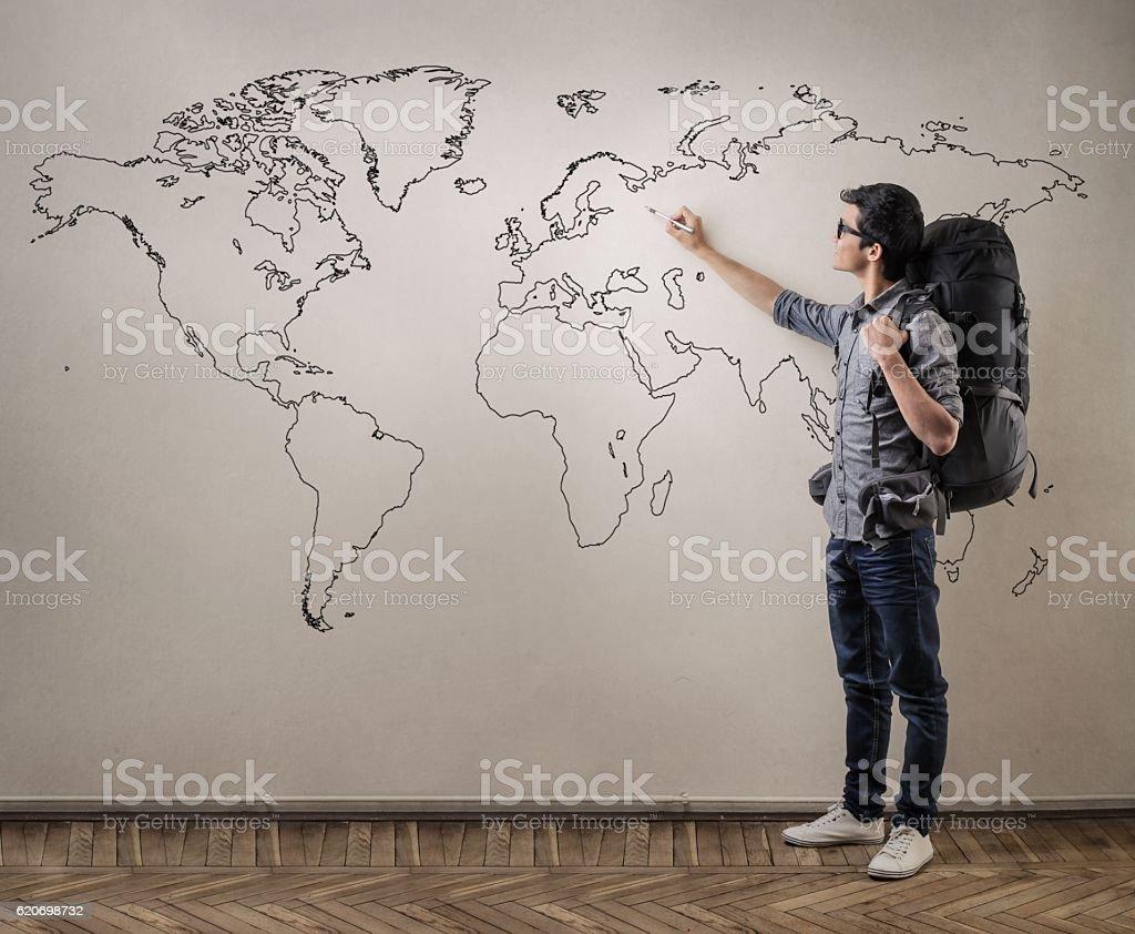 Let's travel! stock photo
