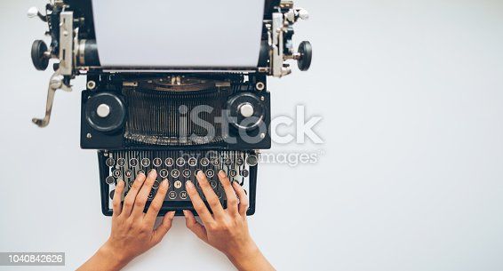istock Let's type a story 1040842626