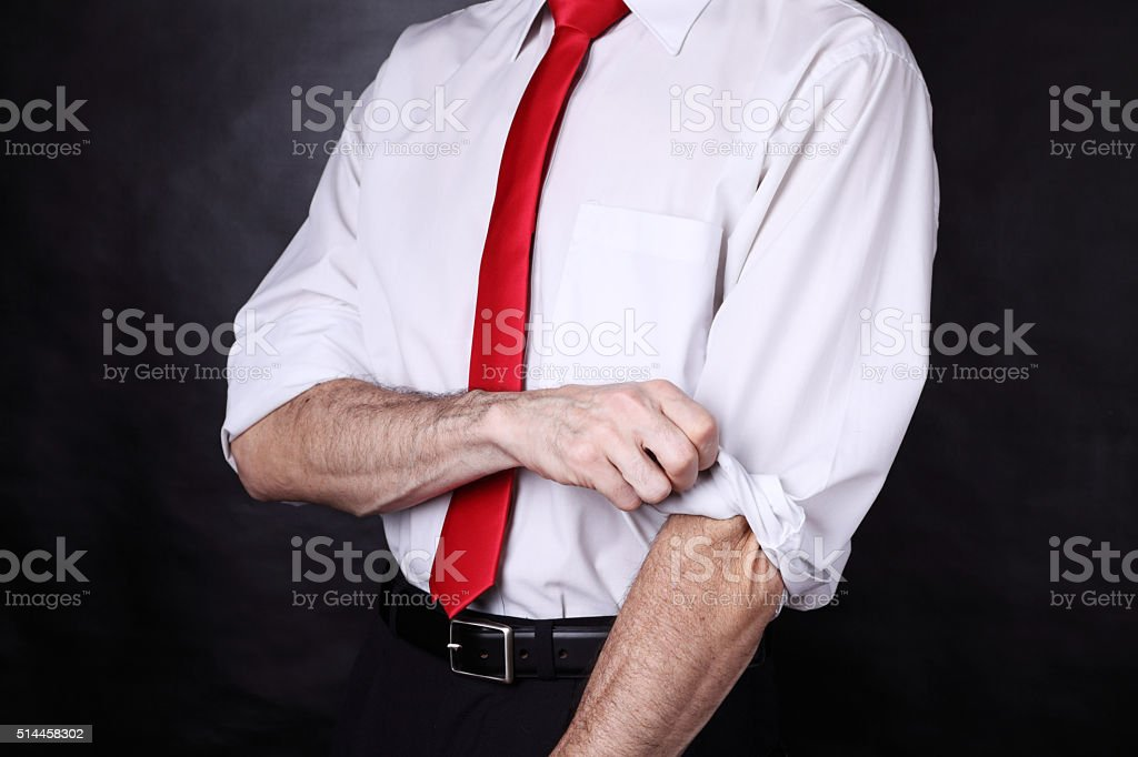 Let's work hard stock photo