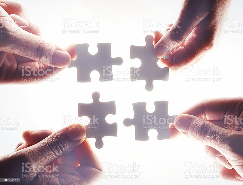 Let's work together stock photo