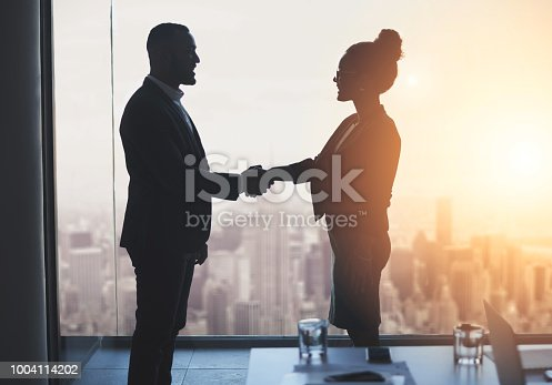 istock Let's work towards realizing our big ambitions together 1004114202