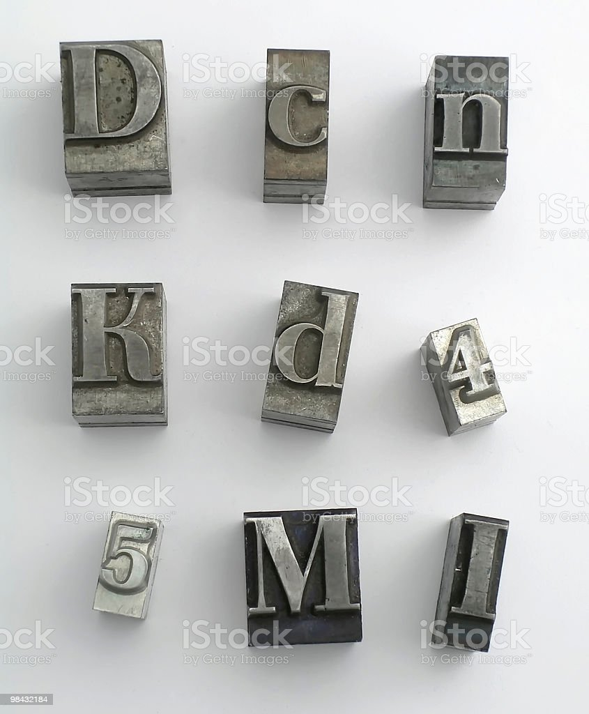 letter 5 stock photo