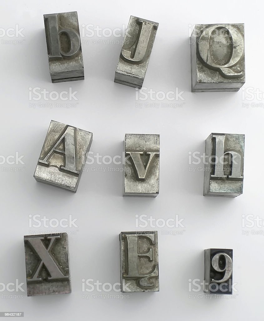 letter 7 royalty-free stock photo