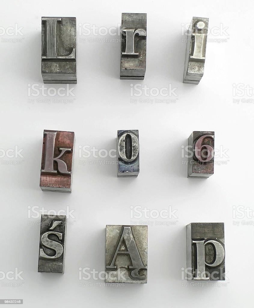 letter 8 stock photo