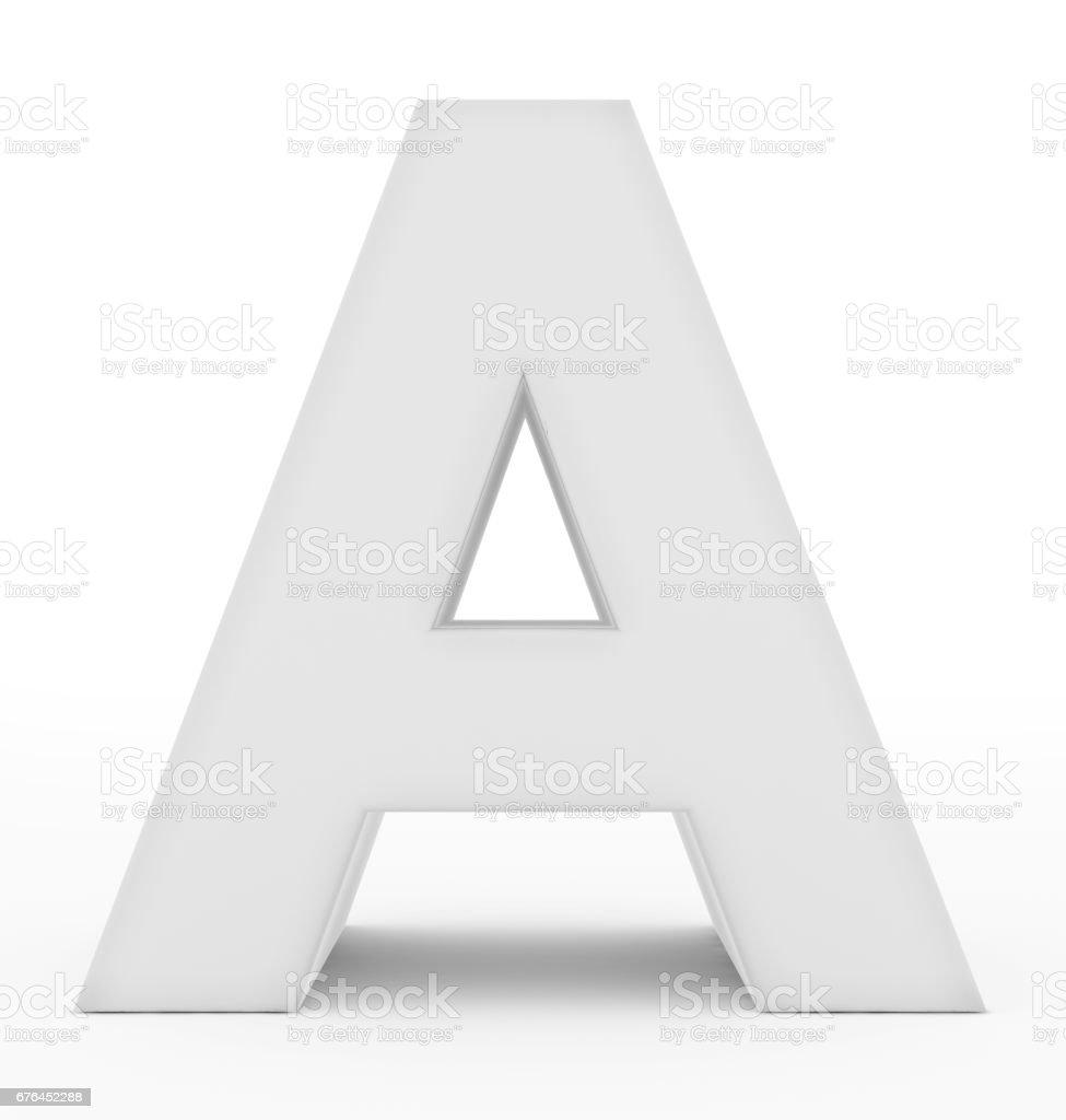 carta de um 3d branco isolado no branco - foto de acervo