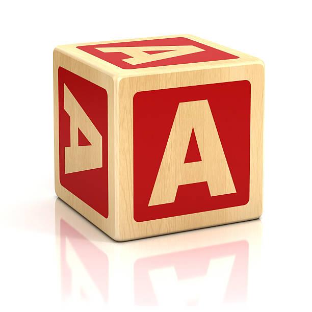 Cubi di lettera di alfabeto carattere - foto stock