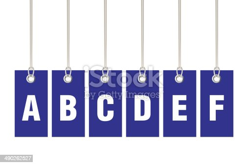 istock Letter A B C D E F on Price Labels 490262527