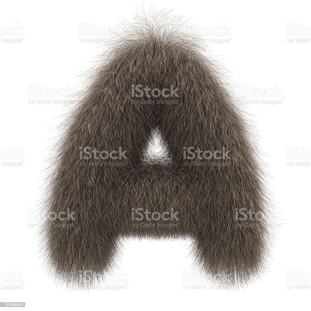 Letter A from fur alphabet stok fotoğrafı