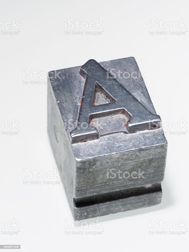 letter A isolated stock photo