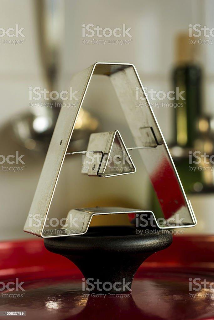 Letter A kitchen alphabet royalty-free stock photo