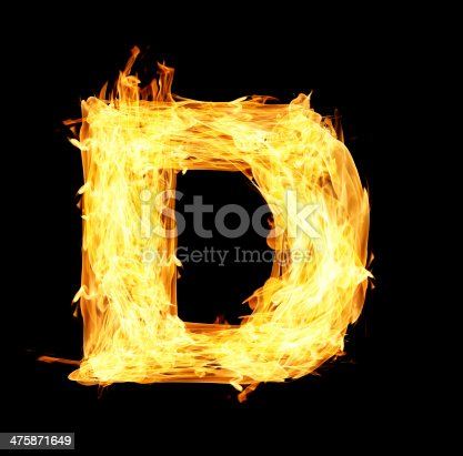 istock letter A made from fire 475871649