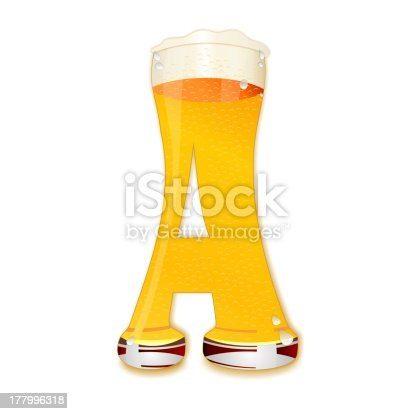 istock BEER ALPHABET letter A 177996318