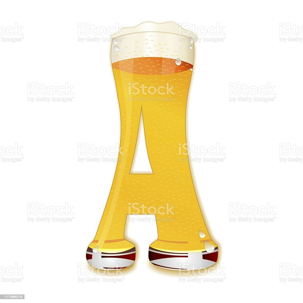 BEER ALPHABET letter A stock photo