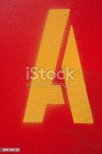 506166130 istock photo Letter A 506166130