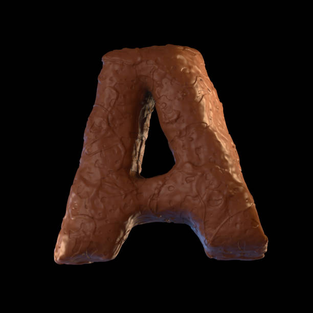 buchstabe a - schokolade typografie stock-fotos und bilder