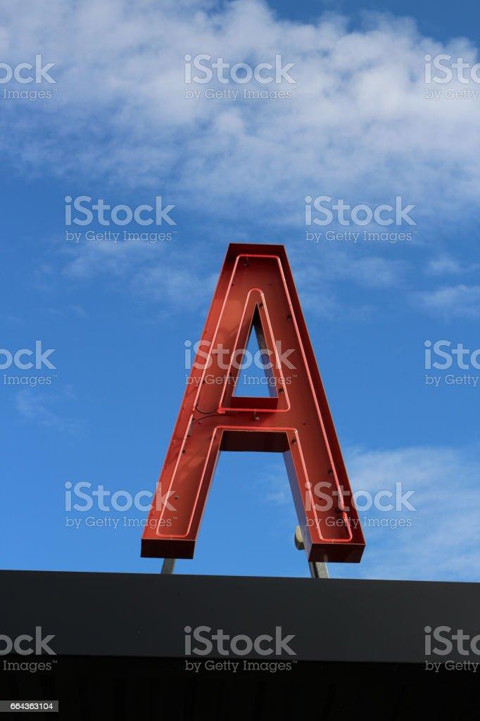 A harfi stok fotoğrafı