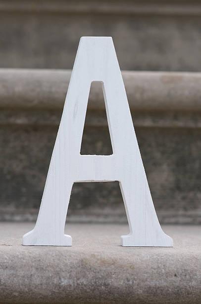 Lettera A - foto stock