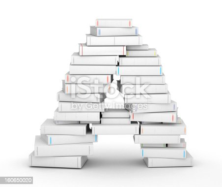 815359538 istock photo Letter A, stacked from blank books 160650020