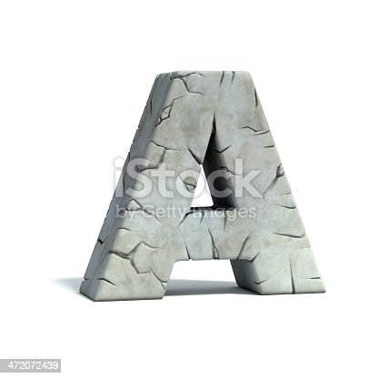 istock letter A stone 3d font 472072439