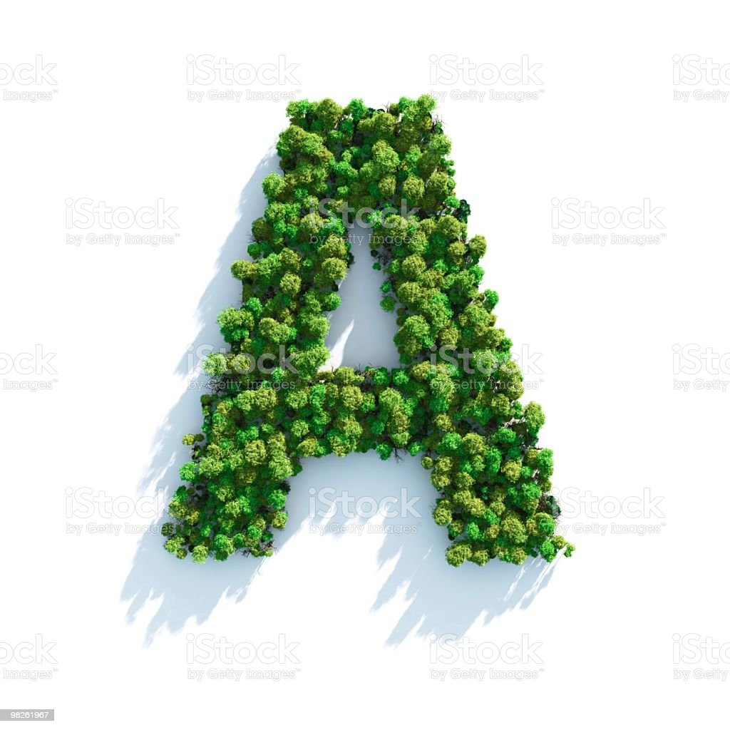 Letter A: Top View royalty-free stock photo