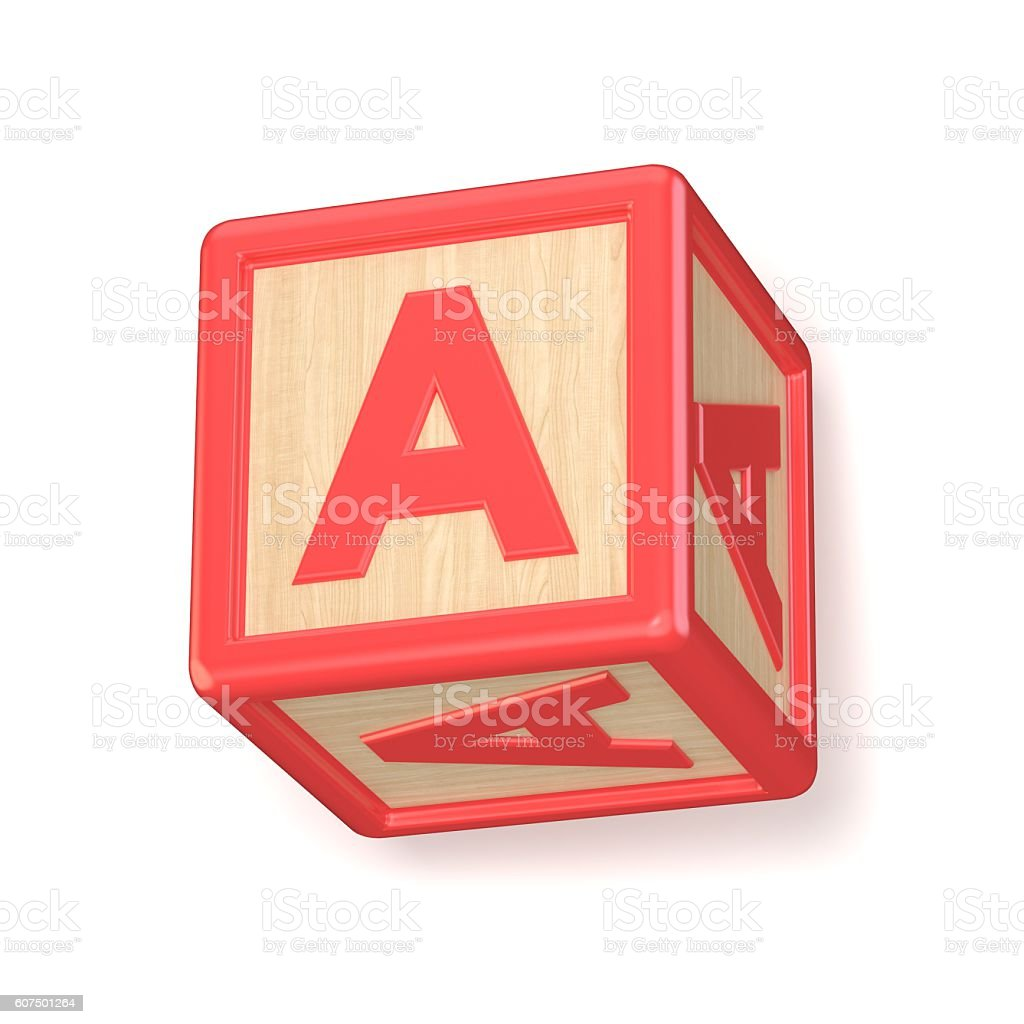 letter a wooden alphabet blocks font rotated 3d royalty free stock photo