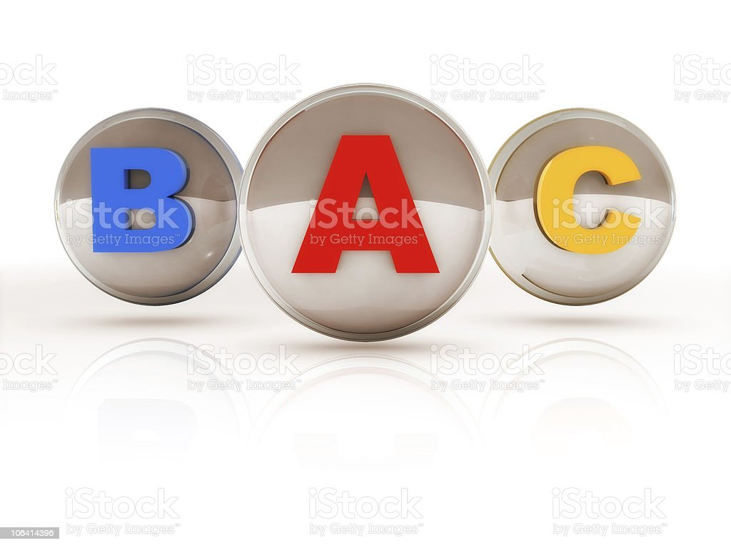 Letter ABC royalty-free stock photo