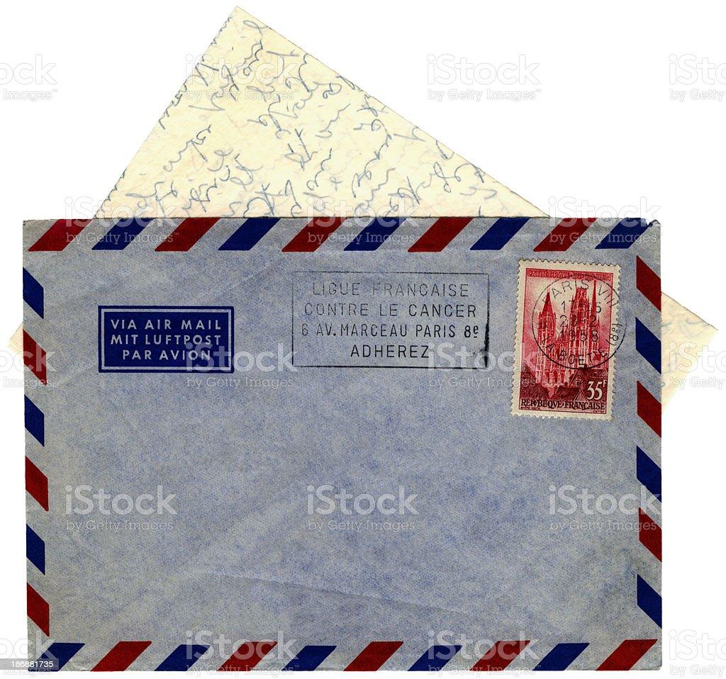 Brief Briefumschlag Von Paris Frankreich 1958 Stockfoto Und Mehr