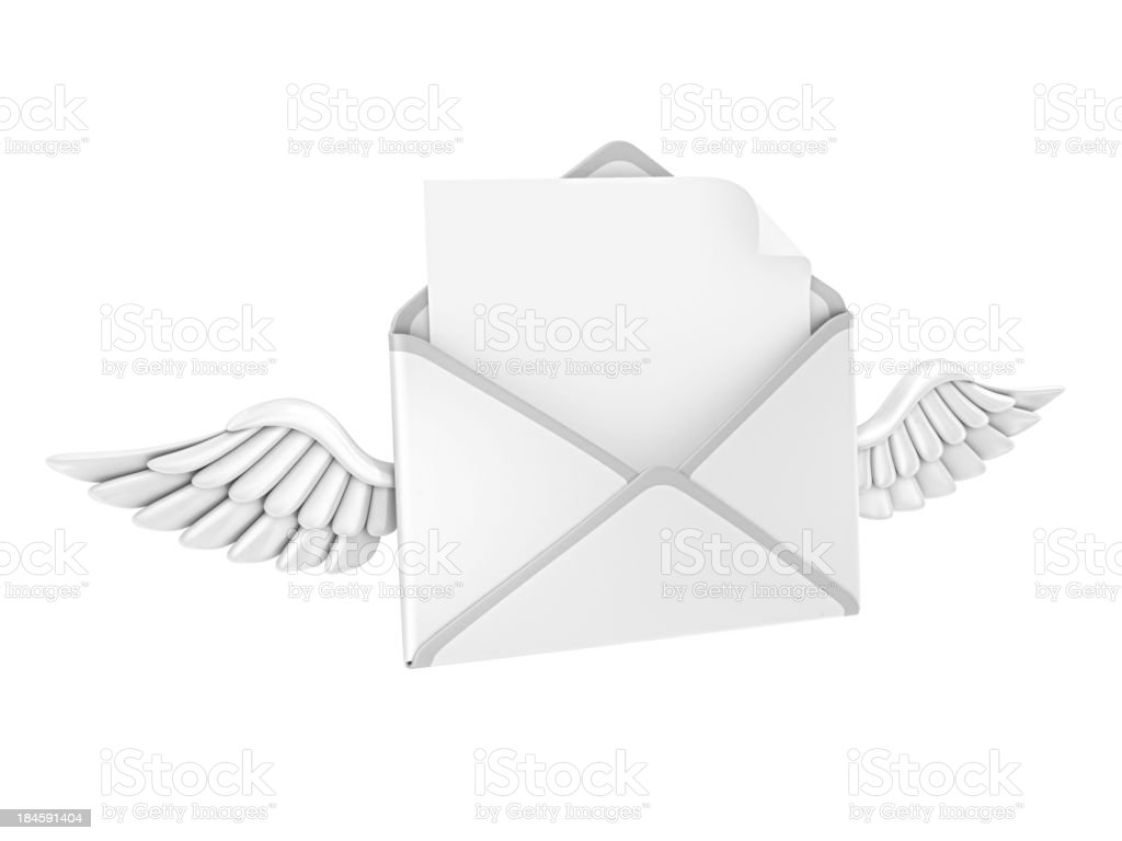 letter and wings royalty-free stock photo