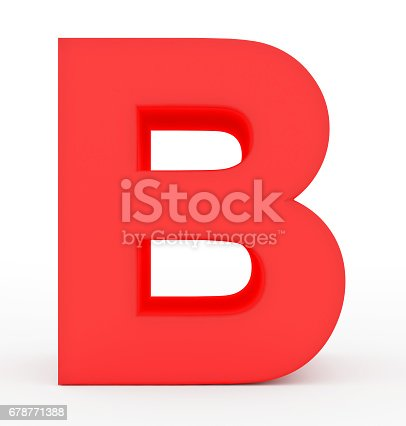 istock letter B 3d red isolated on white 678771388