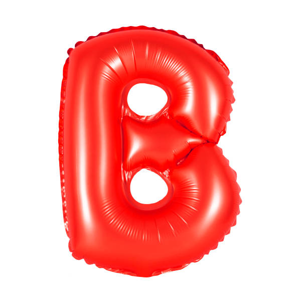 Letter B from English alphabet of balloons stock photo