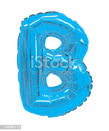istock letter B light blue balloon 1138080173